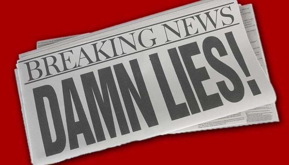 Lies in social media